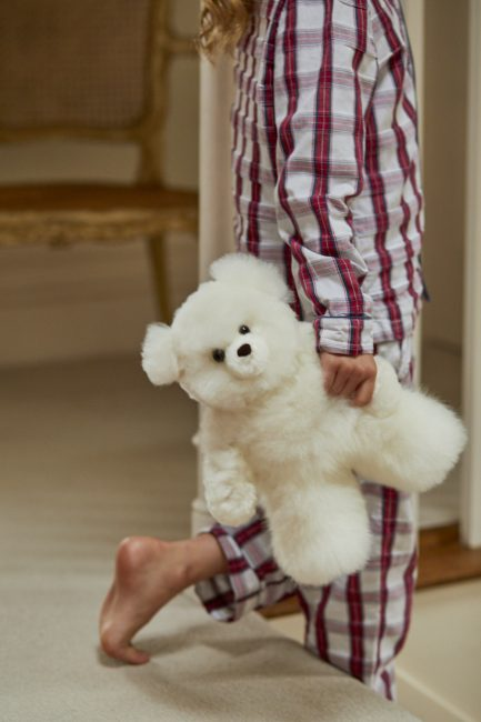 Super Luxe White Alpaca Fur Teddy