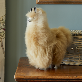 Baby Alpaca Fur Collectable – Marbled Fudge