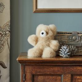 Classic Champagne Alpaca Fur Teddy