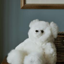 Super Luxe White Alpaca Fur Teddy