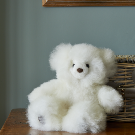 Super Luxe White Alpaca Fur Teddy – Petit