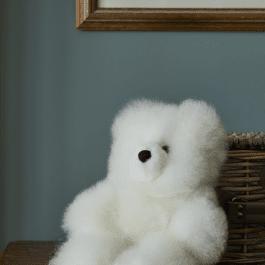 Classic White Baby Alpaca Fur Teddy