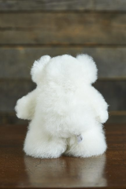 Mini White Alpaca Fur Teddy Bear