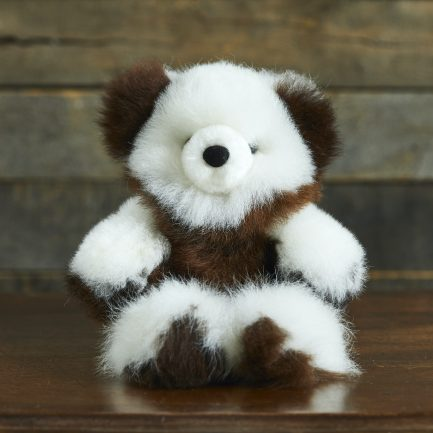 Variegated Alpaca Fur Teddy Bear